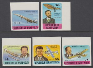 Burkina Faso 462-466 Airplanes Imperfs MNH VF