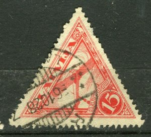 LATVIA; 1928 early AIR issue fine used 15s. value