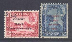 Aden Seiyun Scott 12/13 - SG12/13, 1946 Victory Set used
