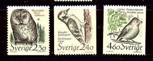 Sweden 1724/1725/1728 MNH 1984 Birds       (P119)