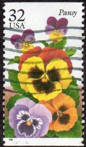 United States 3027 - Used -  32c Pansy (1996) (cv $0.40)