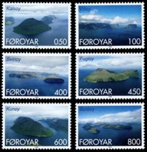 STAMP STATION PERTH Faroe Islands #356-361 Fa356-361 MNH CV$6.55