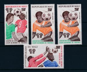 [60702] Mali 1978 World Cup Soccer Football Argentina 250Fr Type 1 and 2 MNH