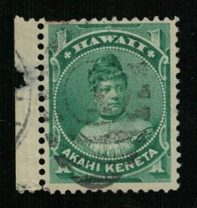 Stamp 1882 - 1886 Hawaii USA Akahi Keneta 1c (ТS-2141)