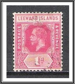 Leeward Islands #48 KG V Used