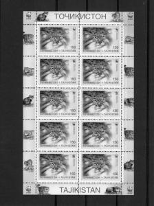 Tajikistan 1996 WWF Pallas Cats (6) Sheets 60v Perforated mnh.vf