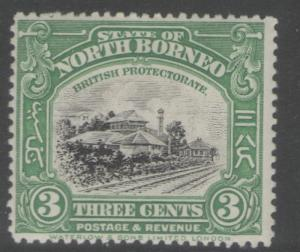 NORTH BORNEO SG163 1923 3c GREEN MTD MINT
