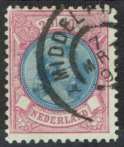 NETHERLANDS 1893 PRINCESS 2G50 PERF 11 USED