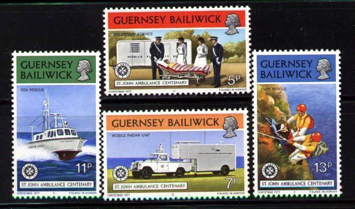 Guernsey MNH 153-6 St. Johns Ambulance Centenary 1971