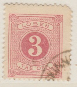 Sweden Postage Due 1874-86 3o Perf 13 Fine Used A13P19F140