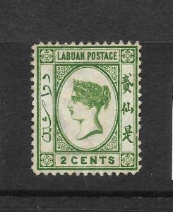 LABUAN  1880-82  2c   QV   MNG  WMK REV    SG 5x