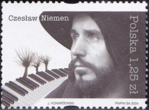 Poland 2004 MNH Stamps Scott 3751 Music Singer Musician Czeslaw Niemen