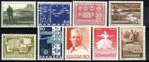 Denmark #412-5, 420-24  MNH CV $3.10  (X7001)
