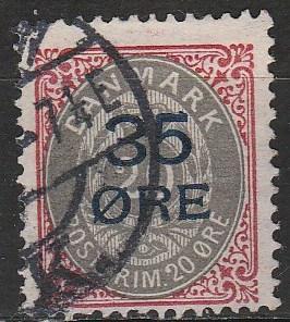 Denmark #80 F-VF Used CV $80.00