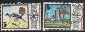 TRINIDAD & TOBAGO SC #146,147 **USED** 5c,6c 1969      SEE SCAN