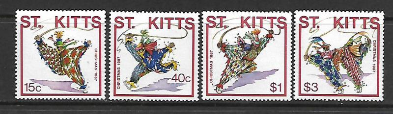 ST KITTS  215-218 MNH CARNIVAL CLOWNS SET 1987