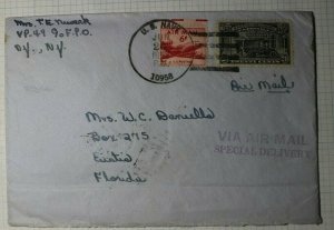 US Sc# E19 Airmail Special Delivery Cover 1952 US Navy FPO VP49