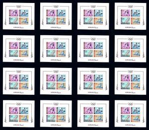 16 Ajman # 36b 1964 Olympics Imperforated F-VF NH Souvenir Sheets
