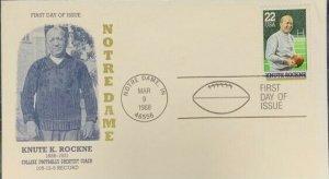 D&S Enterprises 2376 Knute Rockne College Greatest Football Coach Notre Dame