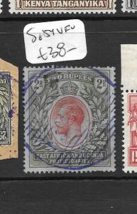 EAST AFRICA  AND  UGANDA  (P0609B) KGV  2R SG 54 PARCEL CANCEL VFU