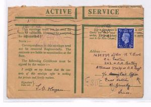 BP62 1941 WW2 GB MILITARY Cover *242 HEAVY ANTI-AIRCRAFT BATTERY* Honour Cover