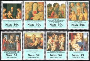 Nevis - 1992 Christmas Religious Paintings Set & MS MNH** SG 697-705