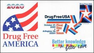 20-270, 2020, Drug Free USA, First Day Cover, Digital Color Postmark,
