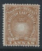 British East Africa Company  SG 9  SC#19  Mint Hinged - perf 14 -  see details
