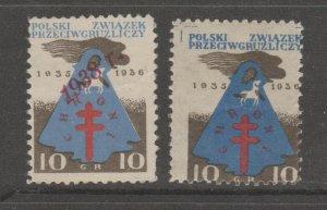 Poland Cinderella revenue fiscal stamp 3-23-