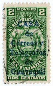 (I.B) Ecuador Telegraphs : Overprint 2c (Guayaquil)