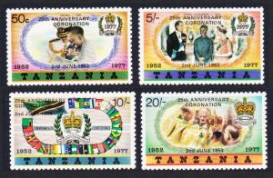 Tanzania 25th Anniversary of Coronation Overprint Type B 4v SG#233-236BA