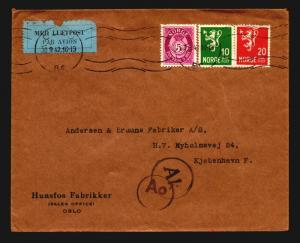 Norway 1942 Censor Cover to Denmark - Z14166