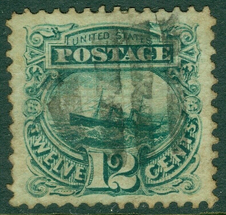 EDW1949SELL : USA 1869 Scott #117 Extra Fine, Used. Grid cancel. Sound. Cat $125