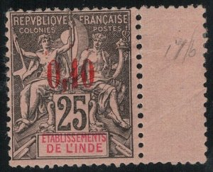 French India SC 21 Mint 1903 SCV$ 375.00