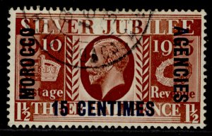 MOROCCO AGENCIES GV SG151, 25c on 1½d red-brown, FINE USED. Cat £25.