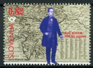 Slovenia People Stamps 2021 MNH Blasius Kozenn Cartography Maps 1v Set