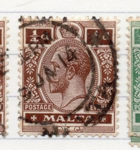 Malta 1914 Early Issue Fine Used 1/4d. 205724
