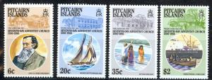 Pitcairn Islands Sc# 277-280 MNH 1986 7th Day Adventist Church 100th