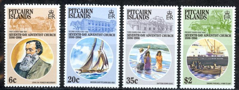 Pitcairn Islands Sc# 277-280 MNH 1986 7th Day Adventist Church 100th
