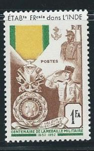 French India 233 1952 Military Medal single MLH