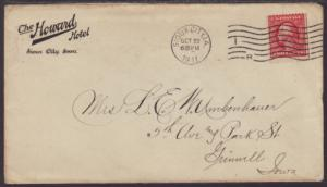 US The Howard Hotel,Sioux City,IA 1911 Cover