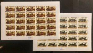 Stamps Full Set in Sheets Locomotives Railroad Imperf. Djbouti 1985