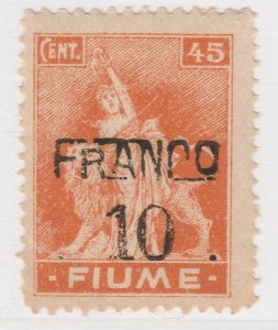 Fiume 1919 Surcharge 10 on 45c Very Fine MNH** Stamp A21P11F4962