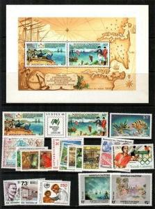 New Caledonia Scott 571-83b, 600-6, 583a Mint NH (Catalog Value $55.15)