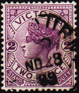 Victoria. 1886 2d S.G.314d Fine Used