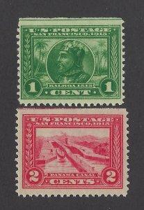 United States Scott 397-398  Mint Never Hinged - Straight Edge