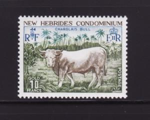 New Hebrides, British 196 Set MNH Animals, Charolais Bull