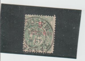 French Morocco  Scott#  15  Used  (1902 Surcharged)