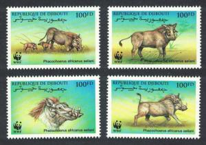Djibouti WWF Eritrean Warthog 4v SG#1192-1195 MI#678-681 SC#795 a-d