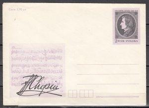 Poland, 2,90 zl. Composer F. Chopin Postal Envelope. ^